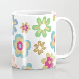 Retro 60s Hippie Flowers Coffee Mug