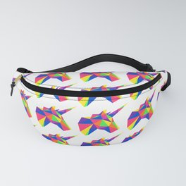 Rainbow Unicorn Geometric Design Fanny Pack