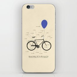 Anatomy Of A Bicycle iPhone Skin