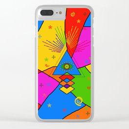 All Seeing Eye Popart Clear iPhone Case