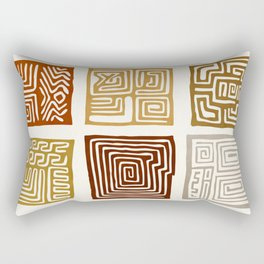 African Ceremonial Pattern Rectangular Pillow
