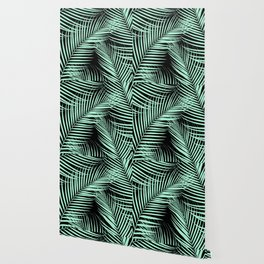 Palm Leaves - Mint Cali Vibes #1 #tropical #decor #art #society6 Wallpaper