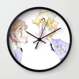 Kiss Kiss Fall In Love Wall Clock