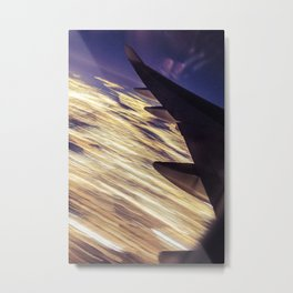 Los Angeles Lights (From a 747/Long Exposure) Metal Print