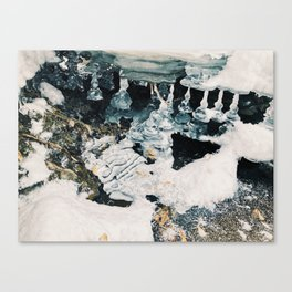 Melting Ice Sculpture Canvas Print