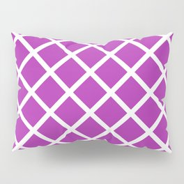 Criss-Cross (White & Purple Pattern) Pillow Sham