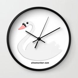Cute Swan Wall Clock