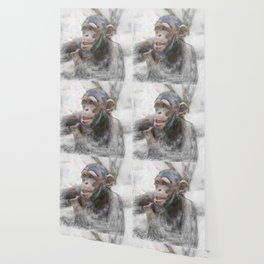 Artistic Animal Young Chimp Wallpaper