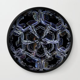 Water as a Crystal, pattern snowflake art on leggings and more! Wall Clock
