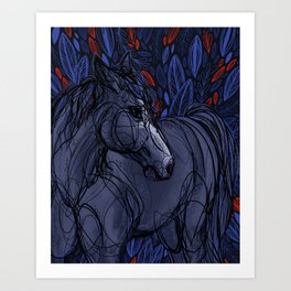 Valor the Mustang Art Print
