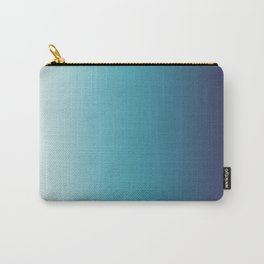 Blue White Gradient Carry-All Pouch