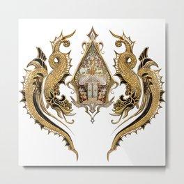 Wayang Decoration Traditional Art Metal Print