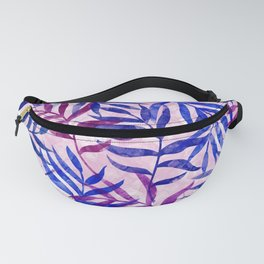 Watercolor Tropical Palm Leaves II Fanny Pack