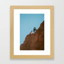 Climbers, Garden of the Gods Framed Art Print