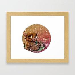 Chines oxen horoscope Framed Art Print