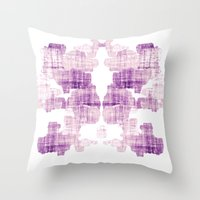 rorschach Throw Pillows featuring Rorschach by Adrienne