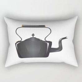 Victorian Cast Iron Kettle Rectangular Pillow