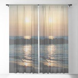 Sunset Ocean Bliss #6 #nature #art #society6 Sheer Curtain