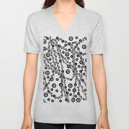 Funky Lucky Dots Painting Unisex V-Neck