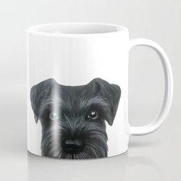 Black Schnauzer, Dog illustration original painting print Coffee Mug