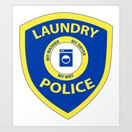 Laundry Police Art Print