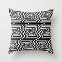 Grey Optical Pattern Throw Pillow