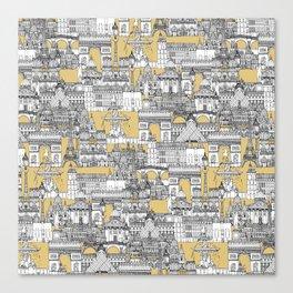 Paris toile gold Canvas Print