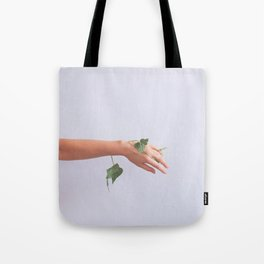 Let Go, Woman with Plants Tote Bag
