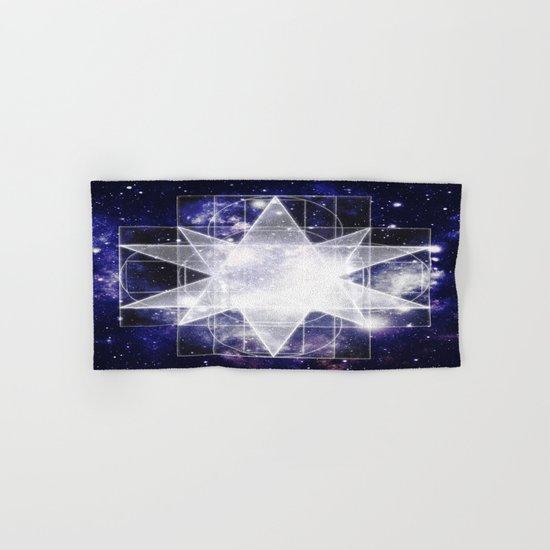 Sacred Geometry : Dark Blue Galaxy Hand & Bath Towel