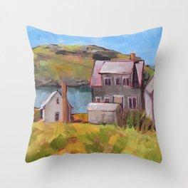 Fish Houses Throw Pillow