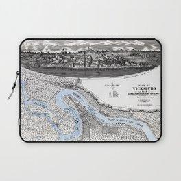 Vicksburg - Fortifications map - Mississippi - 1863 Laptop Sleeve