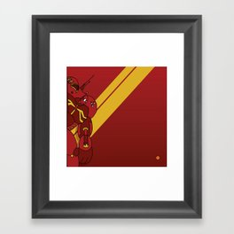 Red Robot Framed Art Print