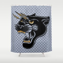 Panther Head Shower Curtain