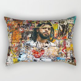 J Cole Portrait Artwork Rectangular Pillow