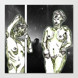 Alien Strip Club Canvas Print