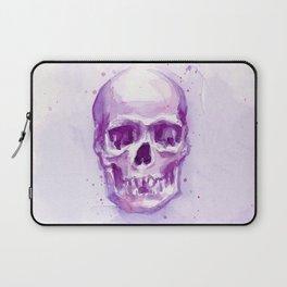 Skull Watercolor Purple Pink Skulls Laptop Sleeve