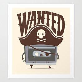 Pirate music Art Print