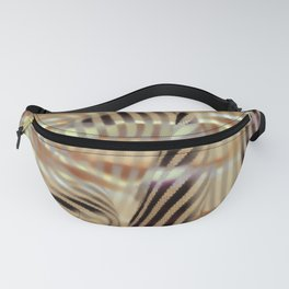 Golden waterly stripes Fanny Pack