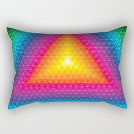 Triangle Of Life Rectangular Pillow