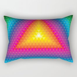 Triangle Of Life Rectangular Pillow
