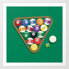Billiard Balls Rack - Boules de billard Art Print