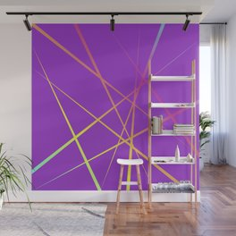 Laser Light Show - Purple Wall Mural