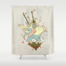 Elephant Caravan Shower Curtain