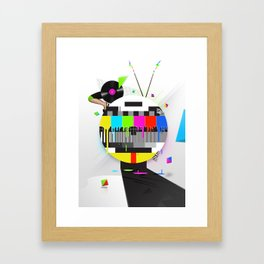 Molten Colour Bars Framed Art Print