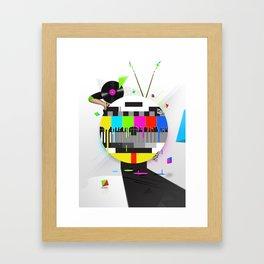 Molten Colour Bars Framed Art Print