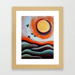 Towards the Sun Framed Art Print