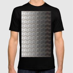 Pattern #6 Greyscale Mens Fitted Tee Black MEDIUM