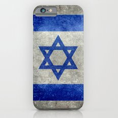 Flag of the State of Israel - Distressed worn patina iPhone 6 Slim Case