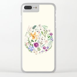 Winter Flowers Clear iPhone Case