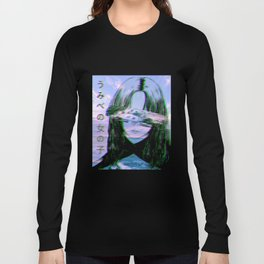 GIRL BY THE SEA - Sad Japanese Anime Aesthetic Long Sleeve T-shirt